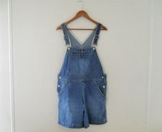 Women Overalls Denim Overall Shorts Dungarees by TheVilleVintage, $47.99