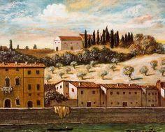 Giorgio De Chirico - Florence, the Arno