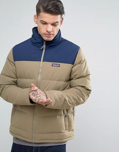 7aa2e960b3e Get this Patagonia s quilted jacket now! Click for more details. Worldwide  shipping. Patagonia Bivy Down Jacket Two Tone in Ash Tan - Beige  Jacket by  ...