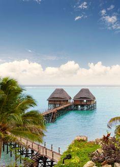 Este es el restaurant Jetty, situado en palafitos de lujo sobre el Océano Índico. #Zanzibar