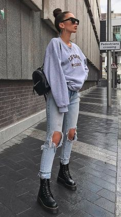 24 How to wear trending this winter - daily fashion outfits - outfit inspo . - 24 How to wear trending this winter – daily fashion outfits – outfit inspo # winter fashion - Winter Fashion Outfits, Look Fashion, Daily Fashion, Spring Outfits, Womens Fashion, Street Fashion, Trendy Winter Outfits, Fur Fashion, Grunge Fashion