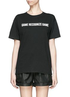 LPD x adidas 'Game Recognize Game' cotton T-shirt