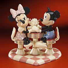 *MINNIE & MICKEY ~ Disney's Mickey's Soda Shop Sweetheart Figurine by Lenox