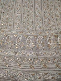 Chikankari Suits - Mukaish work Lucknowi suits - badala and kamadani work Suits Embroidery Online, Embroidery Fabric, Designer Punjabi Suits, Indian Designer Wear, Chicken Kari Suits, Ladies Suit Design, Lucknowi Suits, Pakistani Outfits, Indian Outfits