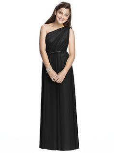 Junior Bridesmaid Dress Style JR525 (shown in black)