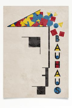 """Bauhaus Poster"" A mission by Alme - Corbusier Art Bauhaus, Bauhaus Textiles, Design Bauhaus, Bauhaus Logo, Berlin Architecture, Le Corbusier Architecture, Diy Kids Furniture, Diy Garden Furniture, Furniture Makeover"