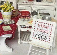 Farm Fresh Eggs Sign- Dollhouse Miniature