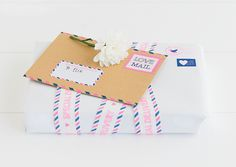 Give your gifts a little extra cute factor by finishing your wrapping off with quirky stickers and tags from our Love Mail DIY Sticker Book. Pen And Paper, Diy Paper, Paper Crafts, Pretty Packaging, Gift Packaging, Packaging Ideas, Love Mail, Handwritten Letters, Swedish Design