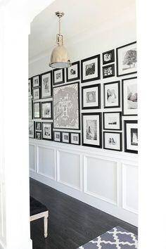 Obsessed with Monika Hibb's gallery wall... and framed Hermes scarf.