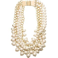 Kate Spade Purely Pearly Statement Necklace ($298) ❤ liked on Polyvore featuring jewelry, necklaces, stone jewelry, kate spade, stone necklace, bib statement necklace and statement necklace