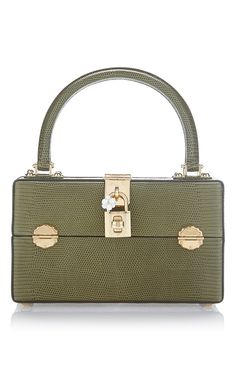 3967fa3d88 Iguana Army Green Top Handle Bag by DOLCE   GABBANA for Preorder on Moda  Operandi Dolce
