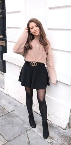 Stylish Winter Outfits, Winter Outfits Women, Winter Fashion Outfits, Cute Casual Outfits, Cute Fashion, Girl Fashion, Teenage Girl Outfits, Outfits For Teens, Birthday Outfit For Teens