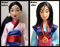 repainted ooak mulan - the girl who saved china. by verirrtesIrrlicht on DeviantArt