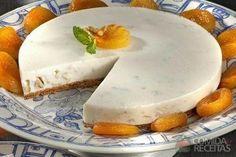 Receita de Cheesecake de nozes e damasco - Comida e Receitas