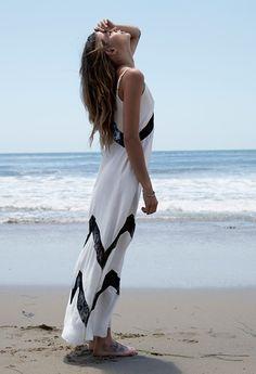 just a little hint of chevron #maxi #dress #beach