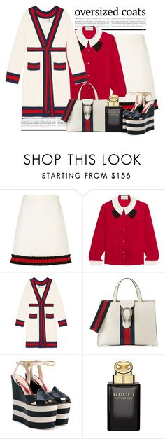 """""""Oversized Coat  - Gucci"""" by conch-lady ❤ liked on Polyvore featuring Gucci, gucci and oversizedcoat"""