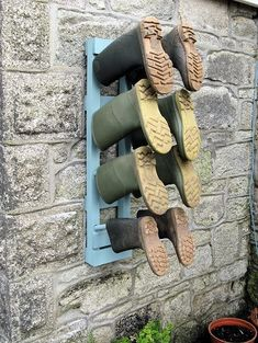great way to hang those muddy boots!