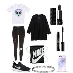 It's Luna Darko style by leafranziska-lg on Polyvore featuring Monki, River Island, NIKE, Topshop, Kat Von D and Lord & Berry