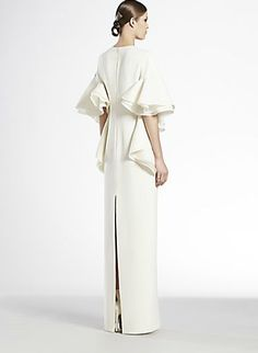 Gucci Silk Cady Flounce Gown from the back.  Gorgeous!!