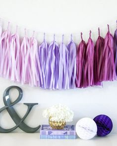 No wedding event is complete without a pretty, decorative paper tassel garland. Choose from a varierty of pre-assembled color designs, or customize for your very own unique four color combination. Use to decorate walls, tables, and chairs. Its beautiful color combination options make it an easy match to any wedding theme.