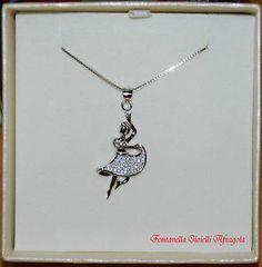 Ballerina con collana veneziana 45 cm in argento 925
