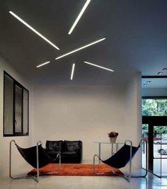 FILE | Luminária de teto embutida Luminária de teto embutida by LUCIFERO'S Salon Lighting, Interior Lighting, Luxury Interior, Interior Design, Pop Ceiling Design, Ceiling Design Living Room, Living Room Designs, Linear Lighting, Lighting Design