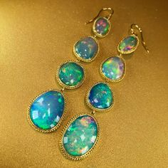 """Cheryl Kremkow """"Opals are even better when @amalijewelry wraps them in delicate chain."""""""