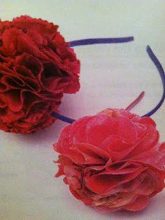 DIY Tulle flowers