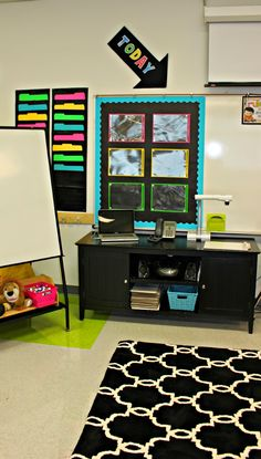 Whew…it happened. I got to a happy place in the room today. I hope it will be a wonderful space for my incoming first graders. Before we start with the zillions of pictures let me just say that there is very little content on the walls to start. All the blank spots are meant for …