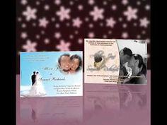 Wedding invitation cards.  Tarjetas invitaciones para boda.