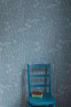 Paper Meadow wallpaper in teal by Hannah Nunn http://www.hannahnunn.co.uk/products/wallpaper/paper-meadow-wallpaper-in-teal.html  photo by www.sarahmasonphotography.co.uk