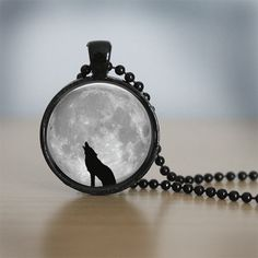 Hey, I found this really awesome Etsy listing at http://www.etsy.com/listing/126674796/glass-tile-necklace-wolf-necklace-moon