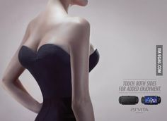 Banned PS Vita ad.