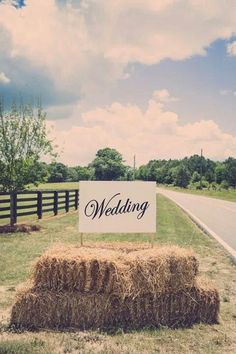 Perfect wedding sign