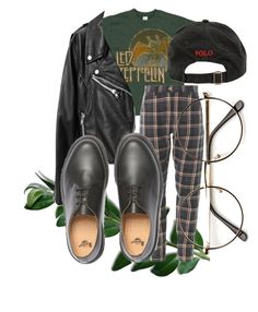 """""""such a mean old man"""" by qimmig on Polyvore featuring Dr. Martens and Ralph Lauren"""