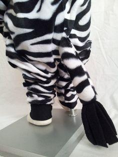 Child Size 2T/3 Black and White Zebra Costume