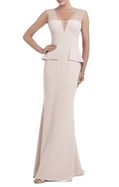 How's this for a possibly MOH dress! Mirannda Sleeveless Fit-and-Flare Gown