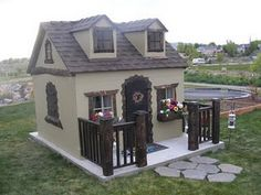 make a cottage (white) or barn style chicken coop!  Must show this to my friend!!