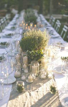 Decorazioni per il matrimonio con le candele - Vasetti con candele