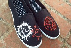 Supernatural Custom Hand-Painted Shoes (Any Whole Size, Men's or Women's, Please Specify When Ordering)