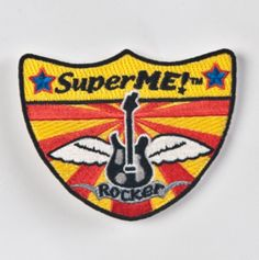 Shield-shaped Velcro patch works with all SuperME bags. For the superhero who loves music and likes to rock out!