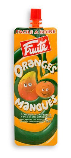Single serve fruit juice spout pouch packaging , you can choose colors of spout and caps that complements your product.  #glass #bottle #bouteille #verre #spout #pouch