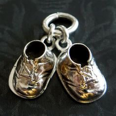 Vintage Pair of Baby Booties Shoes Sterling Silver by AGenuineFind
