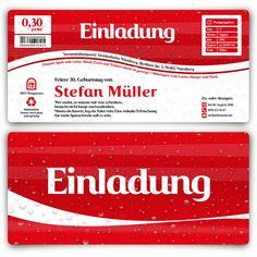 Einladungskarten Als Cola