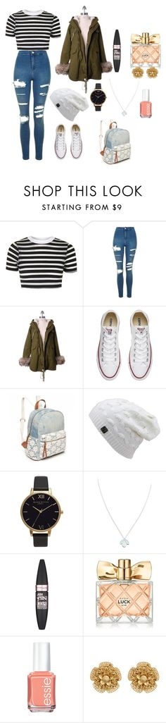 """Casual"" by pixiedust2001 ❤ liked on Polyvore featuring Topshop, Chicwish, Converse, Red Camel, Olivia Burton, Wolf & Moon, Maybelline, Avon, Essie and Miriam Haskell"