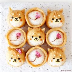 "Big success in regular rice and lunch! Enthusiasm for the cuteness of ""Deco Inari"" - Bento - Bento Ideas Cute Food, Yummy Food, Cute Lunch Boxes, Japanese Food Art, Cute Baking, Kawaii Dessert, Kawaii Bento, Bento Recipes, Bento Ideas"