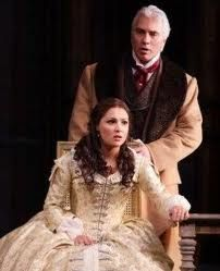 Anna Nebtrebko and Dmitri Hvorovtovsky in La Traviata