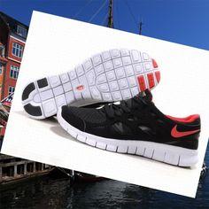 e3ac025d8 Nike Free Run 2 Men Black Red sport car Direct trainers HOT SALE! HOT PRICE