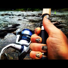 Me fishing on West Virginia's Greenbrier River <3. It truly IS my daughter!