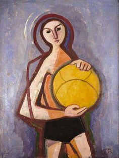 Karl Hofer - Jüngling mit Ball (1953)